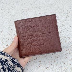 NWT Authentic Coach Men's Leather Signature Wallet